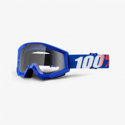 100 Percent MX Brille Strata Jr Blue Clear Lens