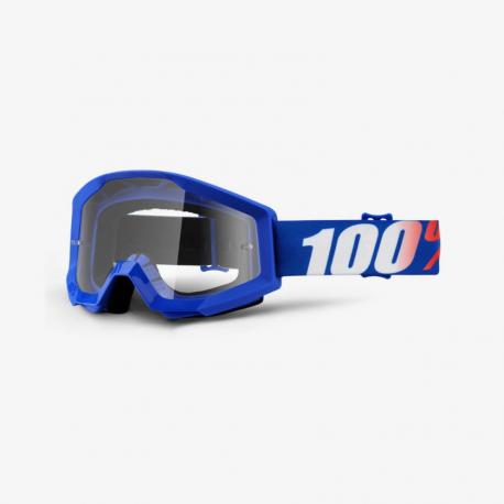 100 Percent MX Brille Strata Jr Blue Clear Lens