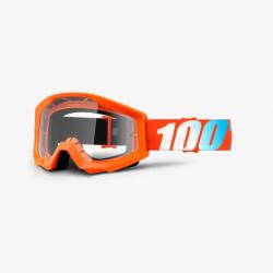 100 Percent MX Brille Strata JR Orange Clear Lens