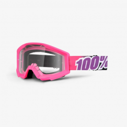 100 Percent MX Brille Strata JR Bubble Gum Clear Lens