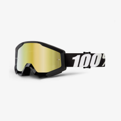100 Percent MX Brille Strata Black Lime Mirror Green Lens