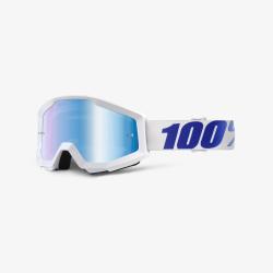100 Percent MX Brille Strata Equinox Mirror Blue Lens